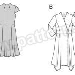 Выкройка Burda №6574 — Платье