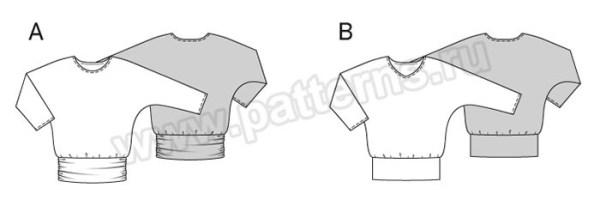 Выкройка Burda №6590 — Пуловер