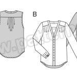 Выкройка Burda №6632 — Блуза