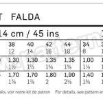 Выкройка Burda №6634 — Юбка с драпировкой