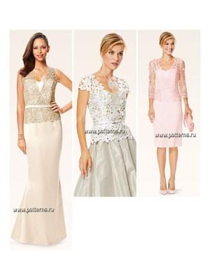 Выкройка Burda №6646 — Платье, Топ
