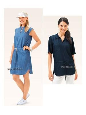 Выкройка Burda №6662 — Платье, Блуза