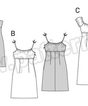 Выкройка Burda №6686 — Платье-Сарафан