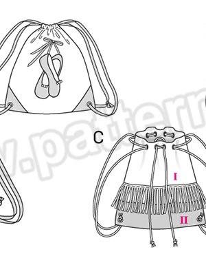 Выкройка Burda №6688 — Сумка-рюкзак