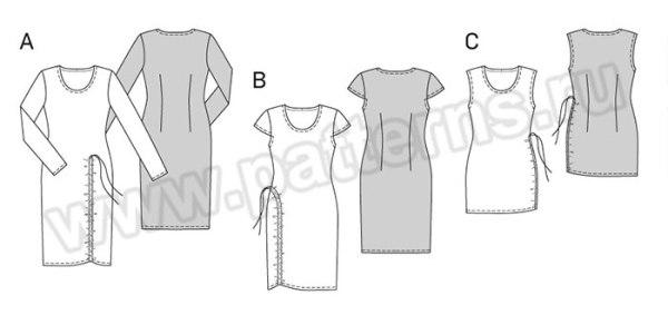 Выкройка Burda №6729 — Платье, Топ
