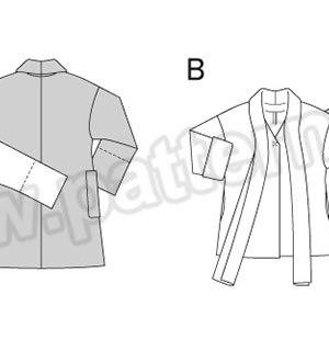 Выкройка Burda №6737 — Пальто
