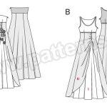 Выкройка Burda №6751 — Вечернее платье