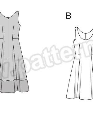 Выкройка Burda №6758 — Платье-сарафан