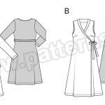 Выкройка Burda №6759 — Платье с V-образным вырезом
