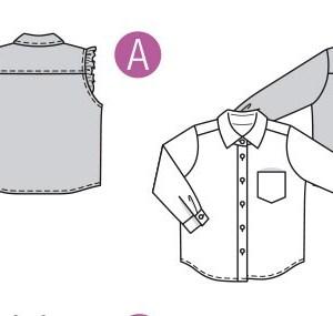 Выкройка Burda  9321 — Блузка, рубашка