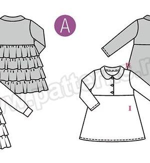 Выкройка Burda №9332 — Платье