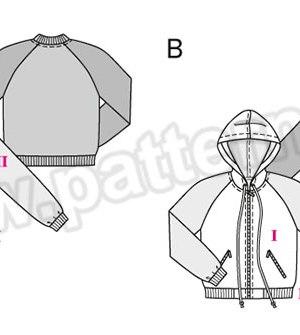 Выкройка Burda №9355 — Спортивная куртка