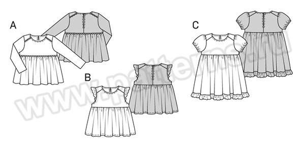 Выкройка Burda №9362 — Платье, Блузка