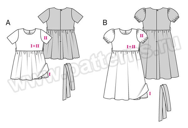 Выкройка Burda №9363 — Праздничное платье