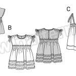 Выкройка Burda №9385 — Платье, Блуза