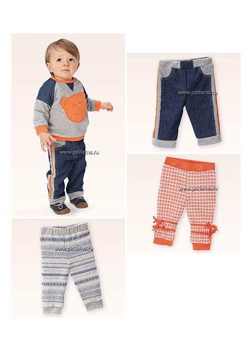 Выкройка Burda №9398 — Детские штанишки