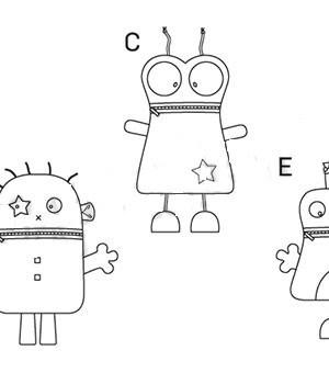 Выкройка Burda №6825 — Мягкие игрушки: инопланетяне