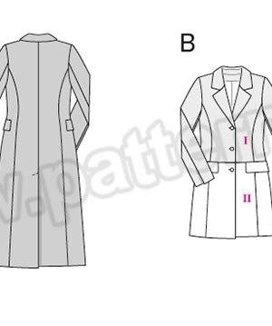 Выкройка Burda №6845 — Пальто