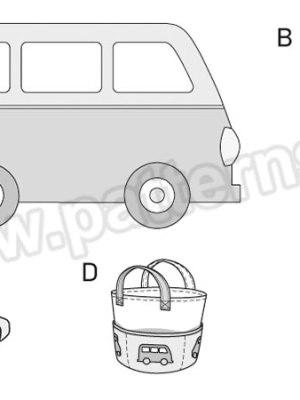 Выкройка Burda №6885 — Детские принадлежности: подстилка, подушки, сумка