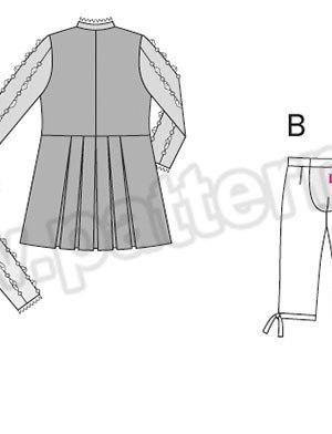 """Выкройка Burda №6888 — Карнавальный костюм """"Английский ренессанс"""""""