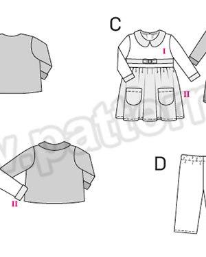 Выкройка Burda №9422 — Комплект: Платье, Жакет, Брючки