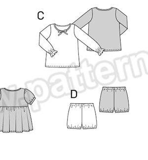 Выкройка Burda №9432 — Пижама, Ночная рубашка