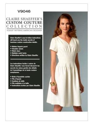 Выкройка Vogue №9046 — Платье со складками от Claire Shaeffer