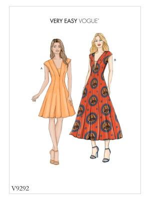 Выкройка Vogue №9292 — Платье