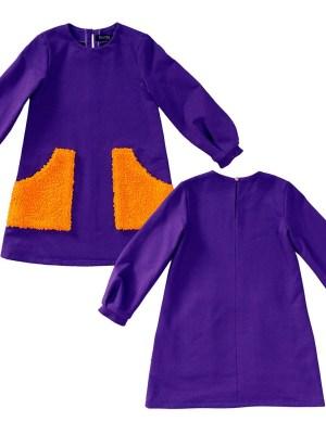 Выкройка Burda  9310 — Платье с длинным рукавом