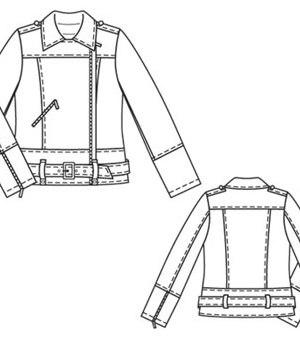 Выкройка Burda куртка-косуха