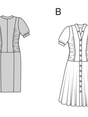 Выкройка Burda  6915 — Платья с драпировками сбоку