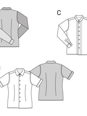 Выкройка Burda №6931 — Мужская рубашка