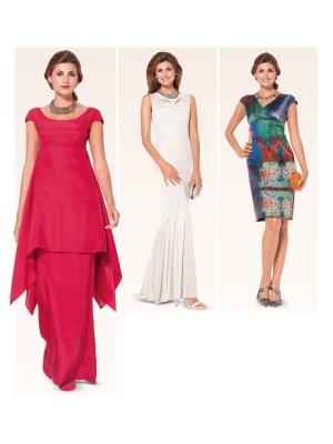 Выкройка Burda  6944 — Платье с вырезом качели