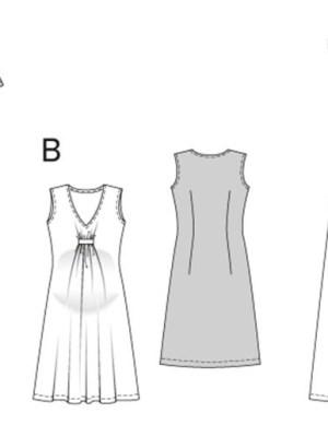 Выкройка Burda  6956 — Одежда для беременных: платье, туника