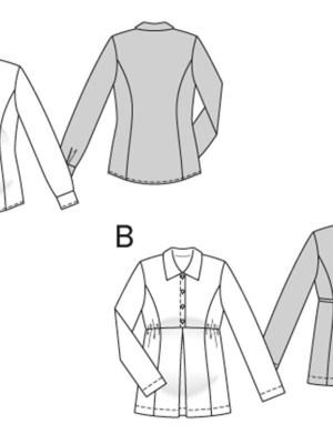 Выкройка Burda  6958 — Одежда для беременных: блузка