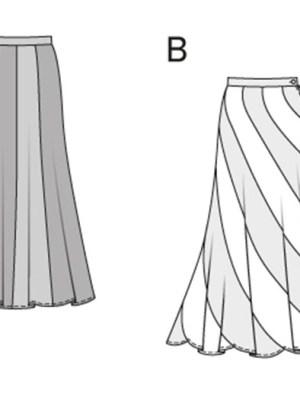Выкройка Burda  6965 — Юбка-годе, восьмиклинка. Винтажная мода, стиль хиппи