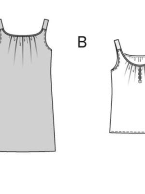 Выкройка Burda №6969 — Платье-сарафан с тонкими бретелями