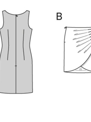 Выкройка Burda  6973 — Платье, юбка с имитацией запаха