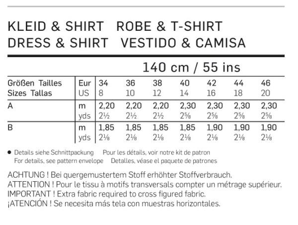 Выкройка Burda №6974 — Платье, туника