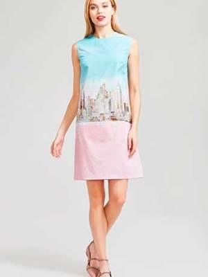 Платье с авторским принтом