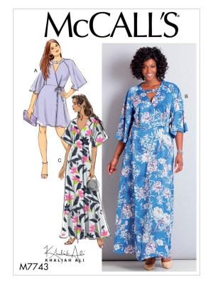 Выкройка McCall's  7743 — Платье с запахом, платье-кимоно