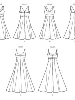 Выкройка Vogue №9001 — Платье-Сарафан