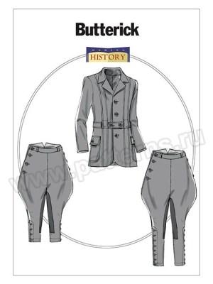 Выкройка Butterick — Исторический мужской костюм (пиджак и бриджи) - B6340