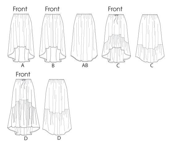 Выкройка Butterick — Юбка - B5892 ()