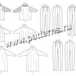 Выкройка Butterick — Пуловер, Брюки - B5961 ()