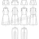 Выкройка Butterick — Топ, Платье, Брюки - B6066 ()