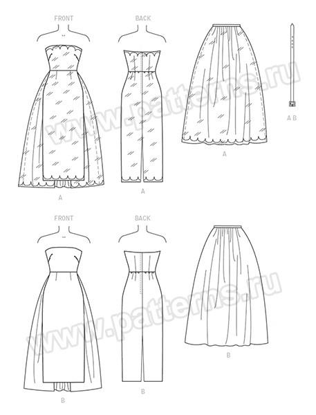 Выкройка Butterick — Вечернее платье - B6353