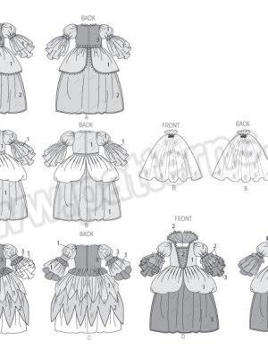 Выкройка McCall's №6897 — Карнавальное платье