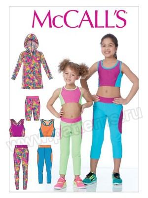 Выкройка McCall's — Костюм для гимнастики - M7618