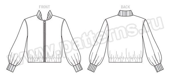 Выкройка McCall's — Куртка-бомбер - M7636